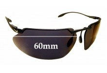 Sunglass Fix Replacement Lenses for Nike Hyperion/P II EG0035 - 60mm Wide