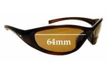 Sunglass Fix Replacement Lenses for Nike Evo 178 Tarj Round - 64mm wide