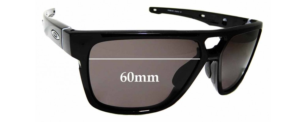 Sunglass Fix Replacement Lenses for Oakley Crossrange Patch OO9382 - 60mm wide