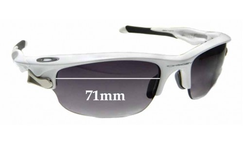 Sunglass Fix Replacement Lenses for Oakley Fast Jacket OO9097 - 71mm wide
