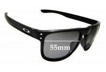 Sunglass Fix Replacement Lenses for Oakley Holbrook R OO9377 - 55mm Wide