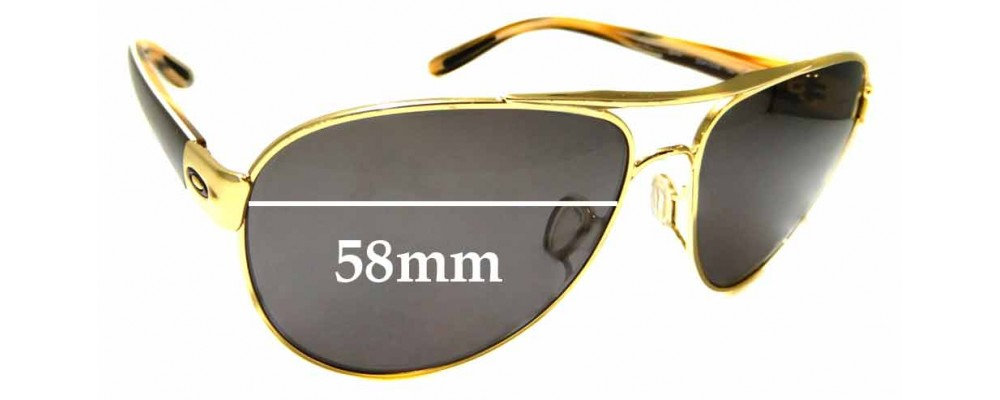 Sunglass Fix Replacement Lenses for Oakley Disclosure OO4110 - 58mm wide