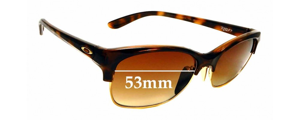 Sunglass Fix Replacement Lenses for Oakley RSVP OO9204 - 53mm wide