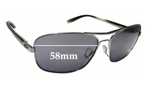 Sunglass Fix Replacement Lenses for Oakley Sanctuary OO4116 - 58mm wide