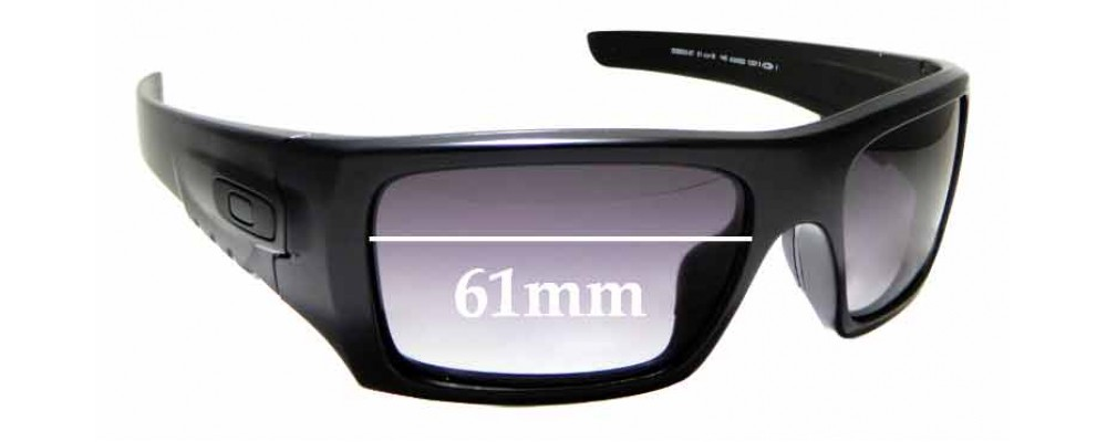 Sunglass Fix Replacement Lenses for Oakley Det Cord OO9253 - 61mm Wide