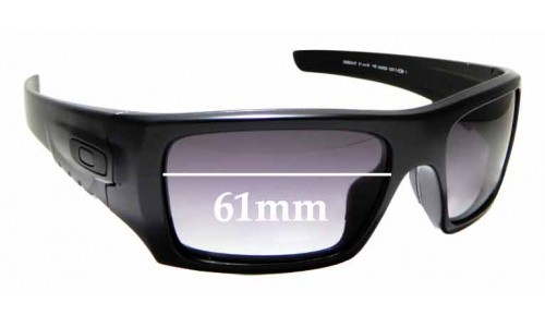 Sunglass Fix Replacement Lenses for  Oakley Sidet-Cord OO9253-07 - 61mm wide