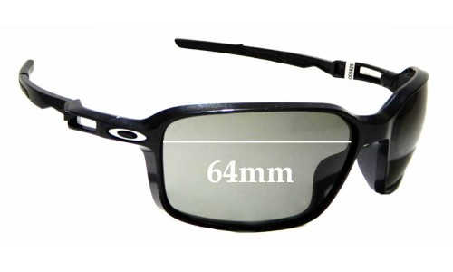 Sunglass Fix Replacement Lenses for Oakley Siphon OO9429 - 64mm wide