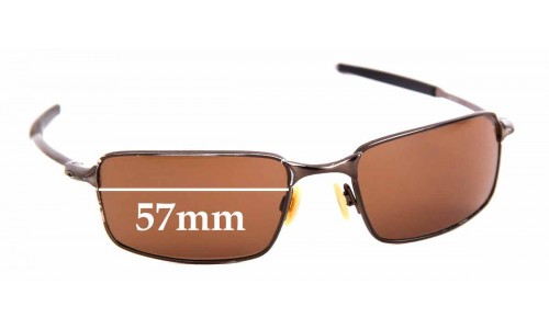 Sunglass Fix Replacement Lenses for Oakley Square Wire - 57mm Wide