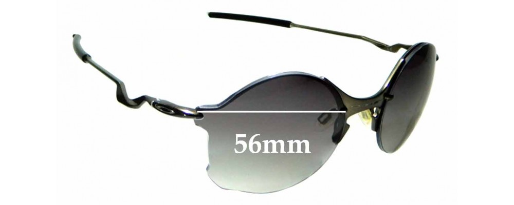Sunglass Fix Replacement Lenses for Oakley Tailend OO4088 - 56mm Wide