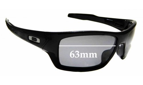 Sunglass Fix Replacement Lenses for Oakley Turbine OO9263 - 63mm wide