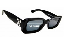 Sunglass Fix Replacement Lenses for Off White HU4001 - 51 mm wide