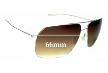 Sunglass Fix Replacement Lenses for Oliver Peoples Bechet - 66mm wide