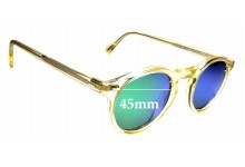 Sunglass Fix Replacement Lenses for Oliver Peoples Gregory Peck OV5186 - 45mm wide