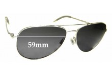 Sunglass Fix Replacement Lenses for Oliver Peoples Kannon OV 1191-S - 59mm wide