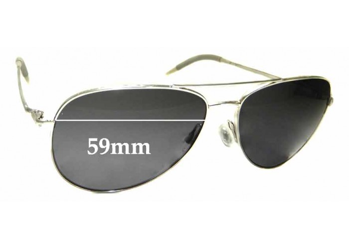45mm Fuse Lenses Polarized Replacement Lenses for Oliver Peoples OMalley OV5183