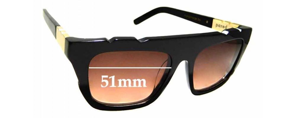 Sunglass Fix New Replacement Lenses for Pared Shake & Bake - 51mm Wide