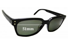Sunglass Fix Replacement Lenses for Paul Frank Industries Lost In The Library Rx58 - 51mm Wide