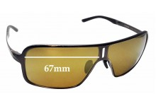 Sunglass Fix Replacement Lenses for Porsche Design P8496 - 67mm Wide