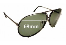 Sunglass Fix Replacement Lenses for Porsche Design P'8978 - 69mm wide