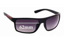 Sunglass Fix Replacement Lenses for Prada PS02QS - 62mm Wide