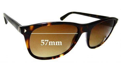 Sunglass Fix Replacement Lenses for Prada SPR 01R - 57mm Wide