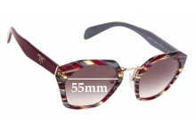 Sunglass Fix Replacement Lenses for Prada SPR 04T - 55mm wide