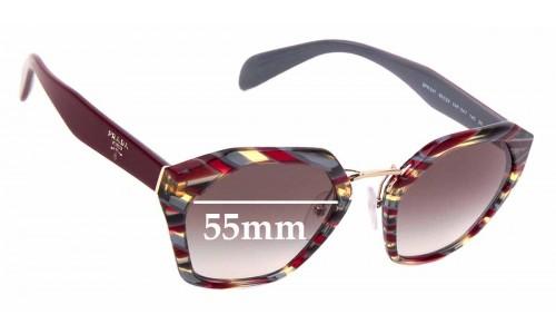 Sunglass Fix Replacement Lenses for Prada SPR 04T - 55mm wide
