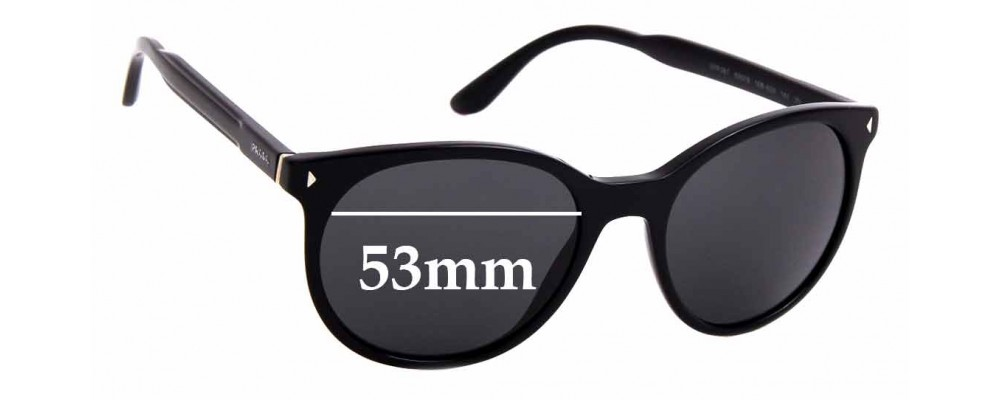 Sunglass Fix Replacement Lenses for Prada SPR 06T - 53mm Wide