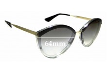 Sunglass Fix Replacement Lenses for Prada SPR 07U - 64mm wide **The Sunglass Fix Cannot Create Lenses For This Model Sorry!*