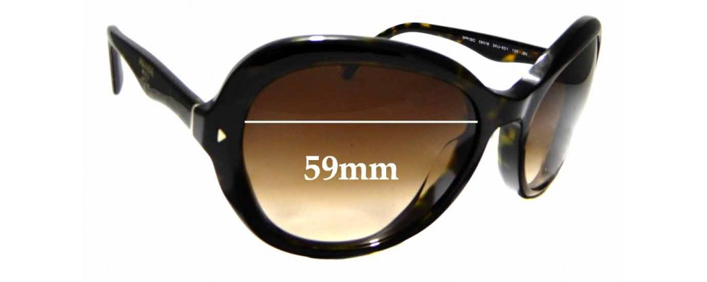 Sunglass Fix Replacement Lenses for Prada SPR 09O - 59mm wide