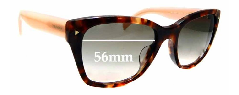 Sunglass Fix Replacement Lenses for Prada SPR09S-F - 56mm wide