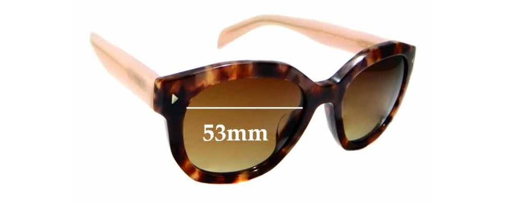 Sunglass Fix Replacement Lenses for Prada SPR12S-F - 53mm wide