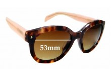 Sunglass Fix Replacement Lenses for Prada SPR12S-F - 53mm wide