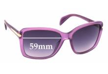 Sunglass Fix Replacement Lenses for Prada SPR14P - 59mm Wide