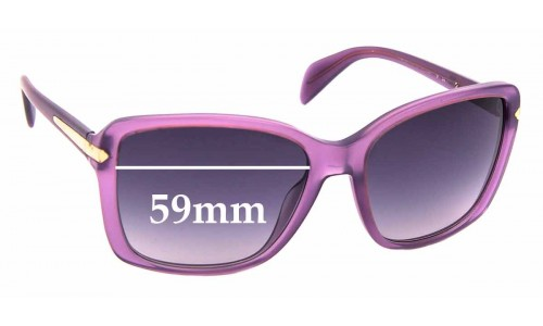Sunglass Fix Replacement Lenses for Prada SPR14P - 59mm Wide