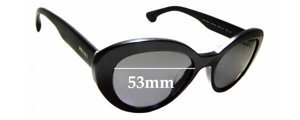 Sunglass Fix Replacement Lenses for Prada SPR 15Q-F - 53mm Wide