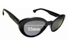 Sunglass Fix Replacement Lenses for Prada SPR 15Q-F - 53mm Wide