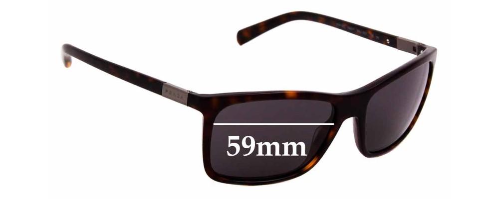 Sunglass Fix Replacement Lenses for Prada SPR 16O - 59mm Wide