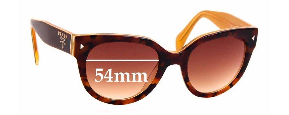 Prada SPR17O Replacement Sunglass Lenses - 54mm wide