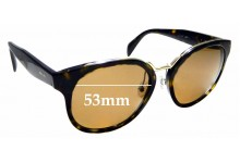 Sunglass Fix Replacement Lenses for Prada SPR 17T - 53mm Wide