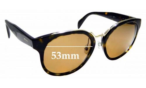 Sunglass Fix Replacement Lenses for Prada SPR 17T - 53mm Wide