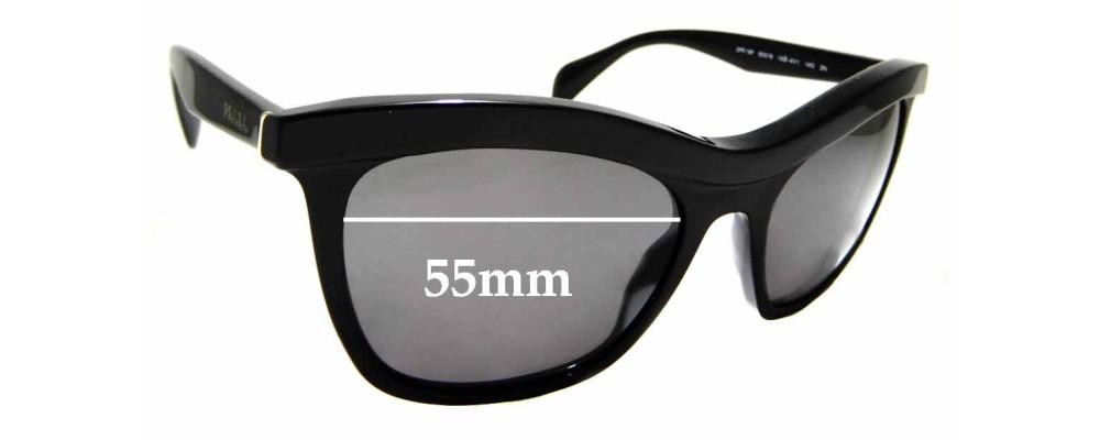 Sunglass Fix Replacement Lenses for Prada SPR 19P - 55mm wide