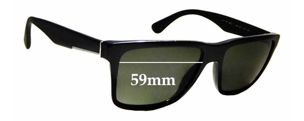 Sunglass Fix Replacement Lenses for Prada SPR 19S - 59mm wide