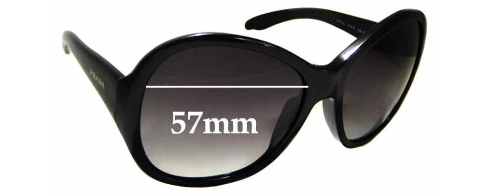 Sunglass Fix Replacement Lenses for Prada SPR 20L - 57mm wide