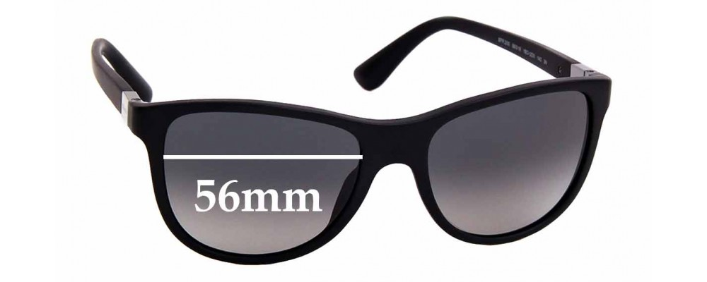 Sunglass Fix Replacement Lenses for Prada SPR 20S - 56mm Wide