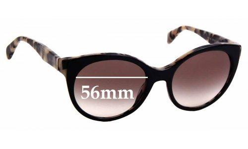 Sunglass Fix Replacement Lenses for Prada SPR 23O - 56mm Wide
