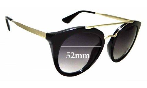 Sunglass Fix Replacement Lenses for Prada SPR 23S - 52mm Wide