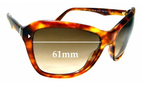 Sunglass Fix Replacement Lenses for Prada SPR 24N - 61mm wide
