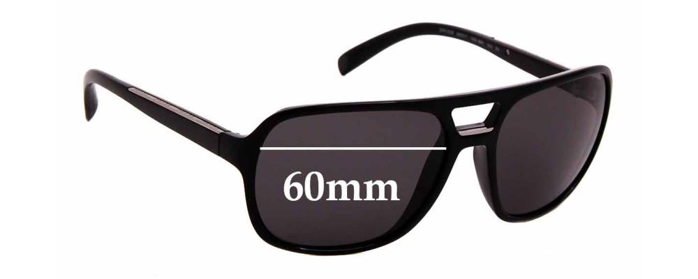 Sunglass Fix Replacement Lenses for Prada SPR 25M - 60mm Wide