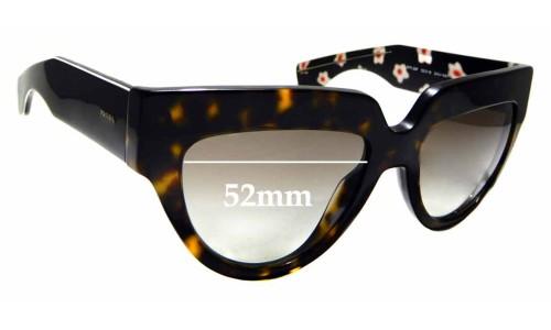 Sunglass Fix Replacement Lenses for Prada SPR 29P - 52mm wide